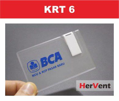 Flashdisk Kartu Transparent – KRT 6